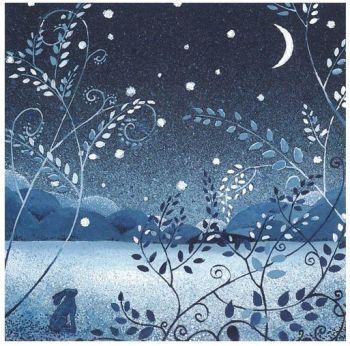 """Penny Gaj Art - Greetings Card """"Night Hare"""""""