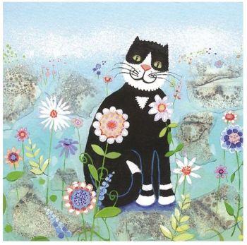 """Penny Gaj Art - Greetings Card """"Happy Cat"""""""