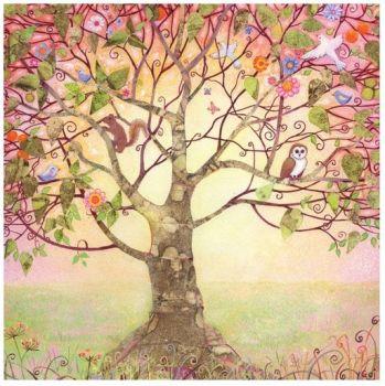 """Penny Gaj Art - Greetings Card """"Tree Of Life"""""""