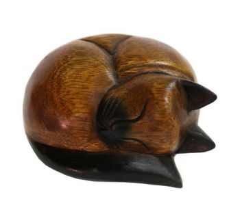 Hand Carved - Sleeping Cat