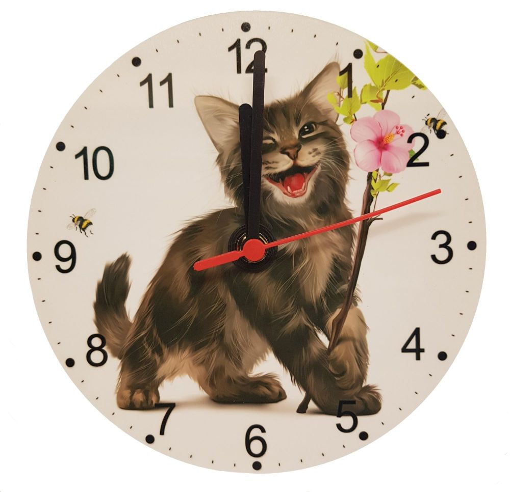 Chester - Kitten Clock