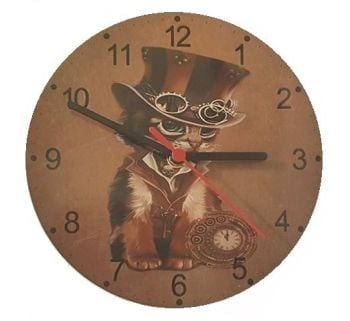 The Time Keeper - Steampunk Cat Clock