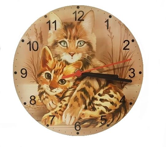Best Friends - Cat Wall Clock