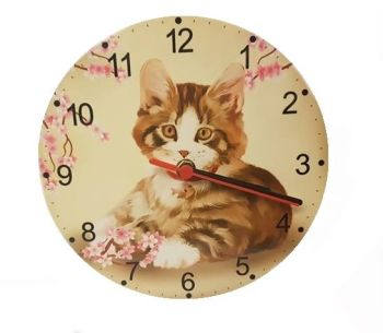 Jess - Cat Wall Clock