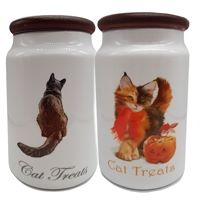 Bespoke Handmade Ceramic Cat Treat jars