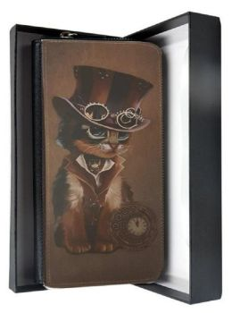 The Time Keeper - Steampunk Cat - Large Purse