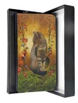 Crystal Sparkle Large Purse - Fantasy Cat Art - Autumn Enchantment - Cat Purse