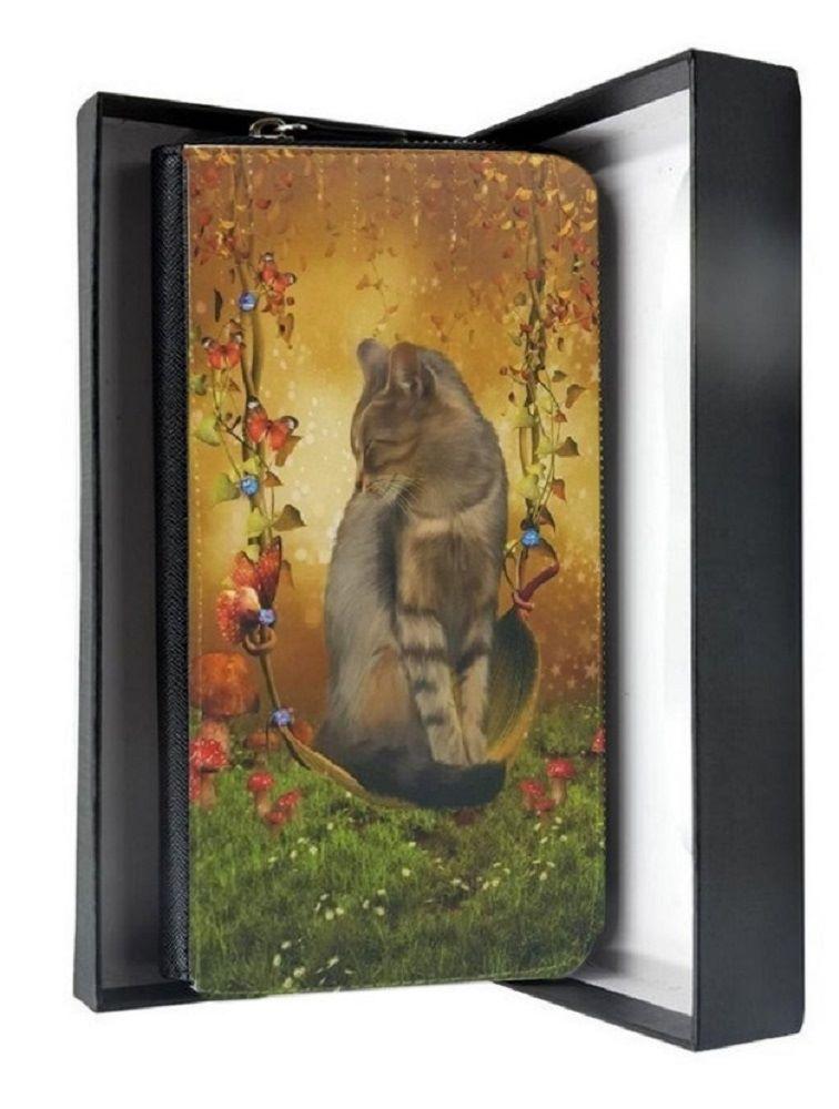 Crystal Sparkle Large Purse - Fantasy Cat Art - Autumn Enchantment - Cat Pu