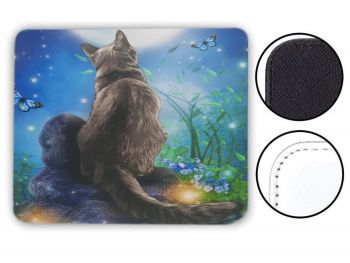 Moongazer Cat & Moon - Mouse Mat