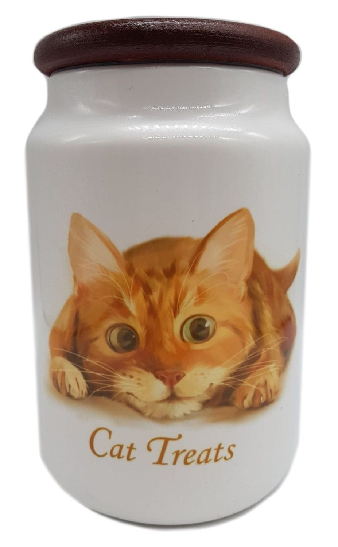 Lets Play - Ceramic Cat Treat Jar