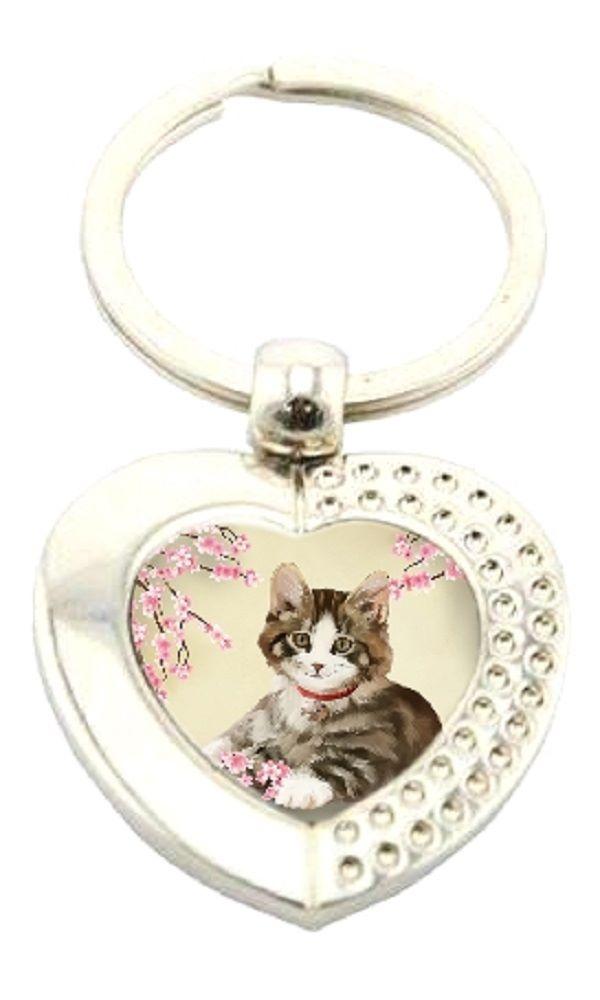 Heart Shaped Metal Boxed Keyring - Jess