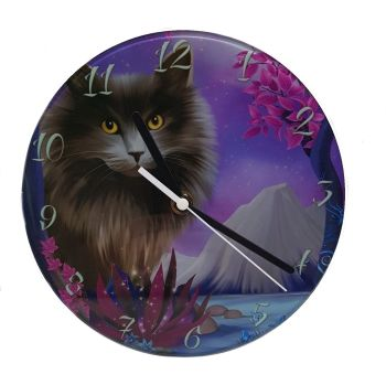 Obsidion Glass Wall Clock