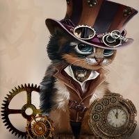 Steampunk Cat - The Time Keeper