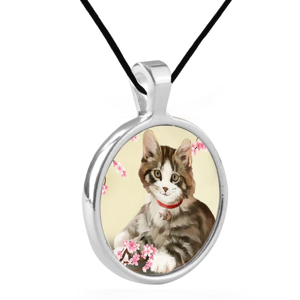 Silver Plated Bezel Pendant Necklace - Jess