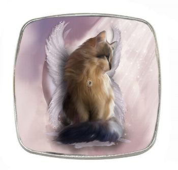 Fantasy Cat - Castiel - Chrome Finish Metal Magnet