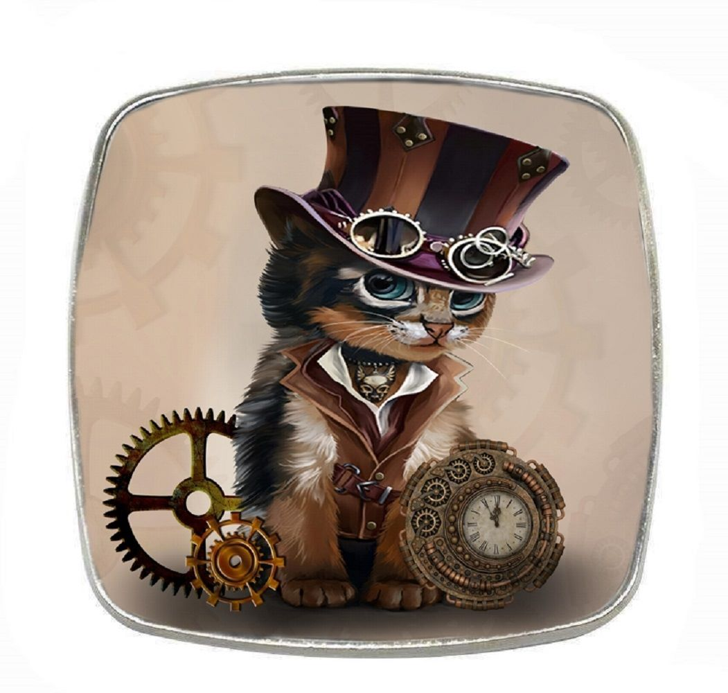 Steampunk LITE - Chrome Finish Metal Magnet