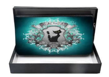 Black Cat - Large Clutch Purse - Boxed