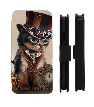 Samsung Galaxy - S9/S8/S7/S6/S5/S4/S3 - Steampunk Cat