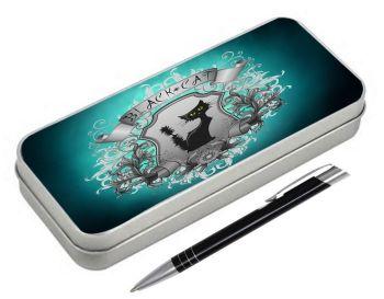 Black Cat - Pencil Tin & Pen
