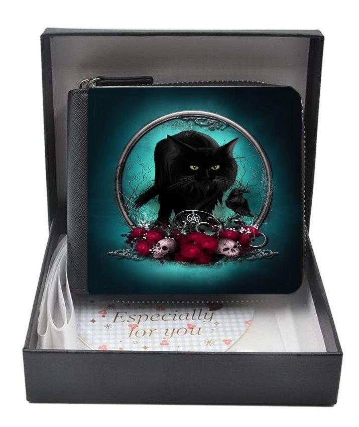 Familiar Protection Black Cat & Raven - Small Purse - Boxed