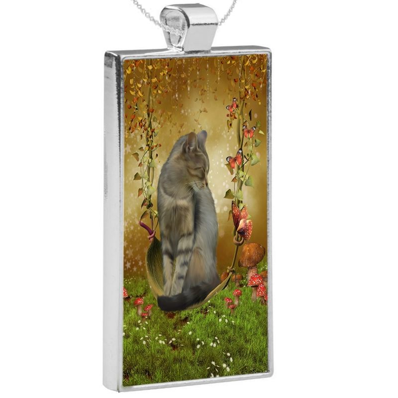 Silver Plated Pendant & 24 Inch Chain - Autumn Enchantment