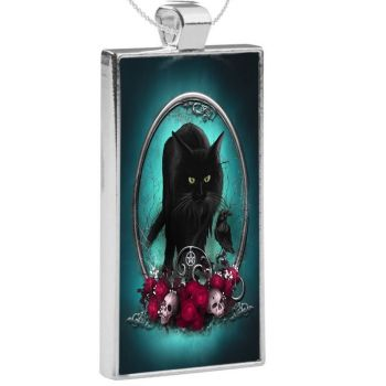 Silver Plated Pendant - Familiar Protection WAS £13.49