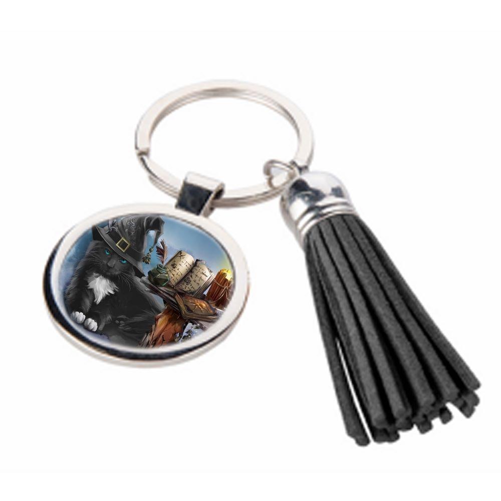 The Magician - Metal Keyring & Tassel