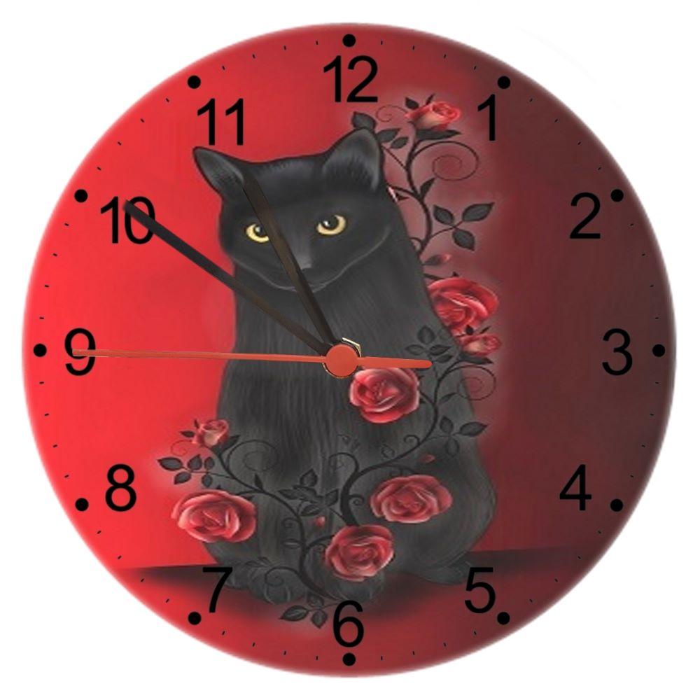 Ebony Rose - Cat Wall Clock