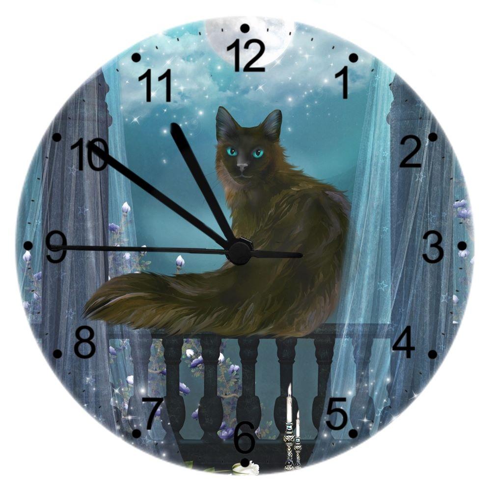 Eclipse - Cat Wall Clock