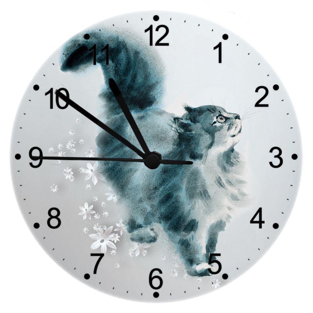 Watercolour (Love & a Cat) - Cat Wall Clock