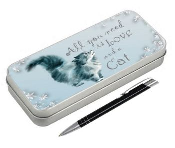 All You Need Is Love & A Cat - Pencil Tin & Pen