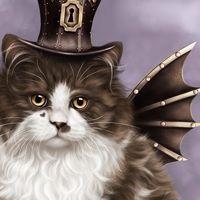 Steampunk Valentine Cat