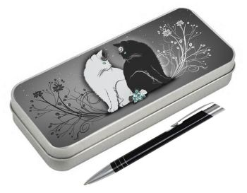 Yin & Yang - Pencil Tin & Pen
