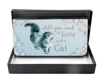 All You Need Is Love & A Cat - Large Clutch Purse - Boxed