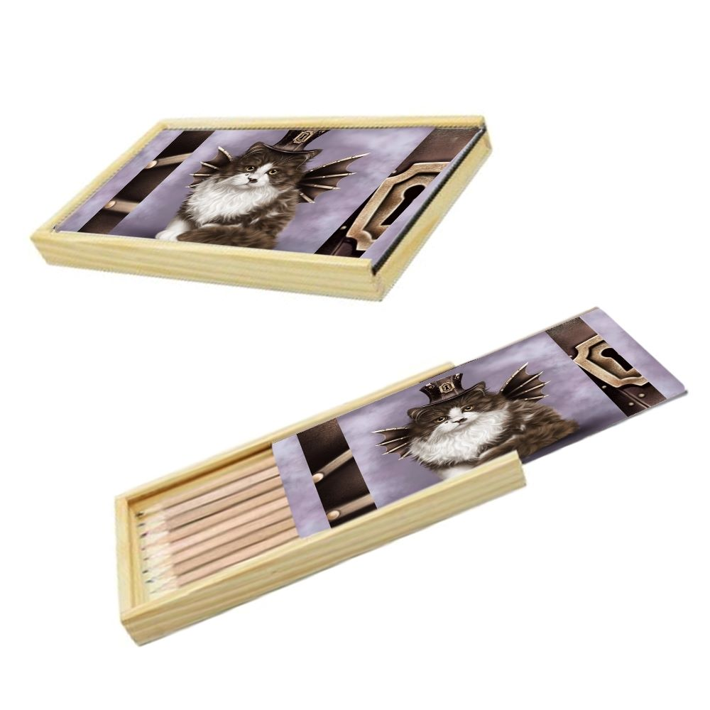 Steampunk Valentine - Pencil Box & Pencils