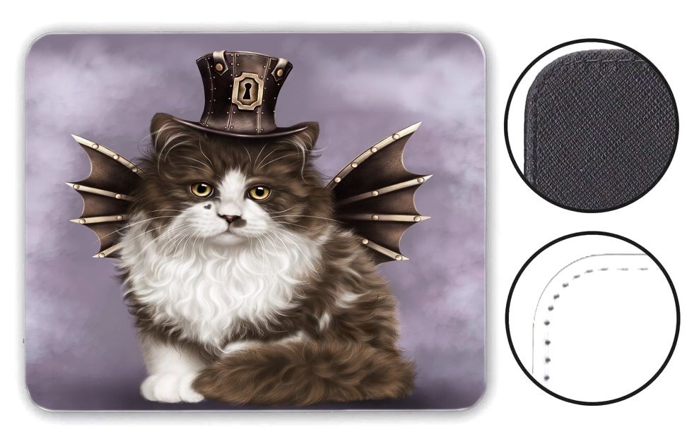 Steampunk Valentine Cat - Mouse Mat