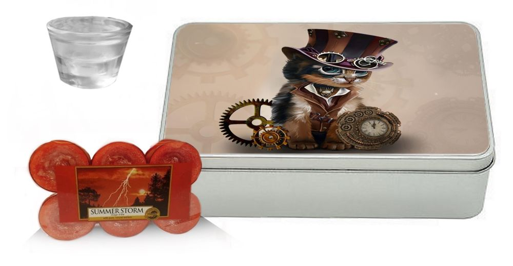 Summer Storm - Yankee Candle Gift Set - Steampunk Cat