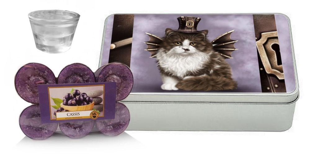Casis Yankee Candle Gift Set - Steampunk Valentine Cat