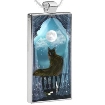 Silver Plated Pendant  - Eclipse  WAS £13.49