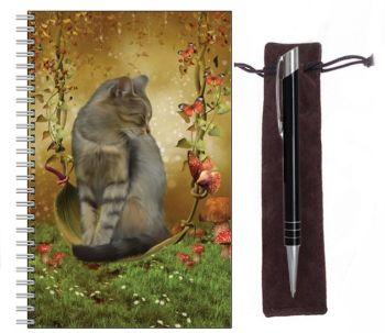 Lined Notebook & Pen Set - Autumn Enchantment