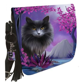 Small Shoulder Cat Bag With Tassel Ring - Obsidion