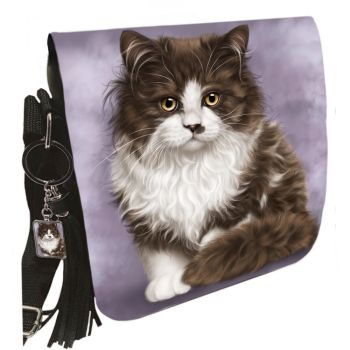 Small Shoulder Cat Bag With Tassel Ring - Primrose