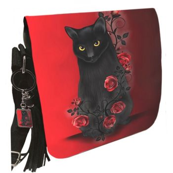 Small Shoulder Cat Bag With Tassel Ring - Ebony Rose