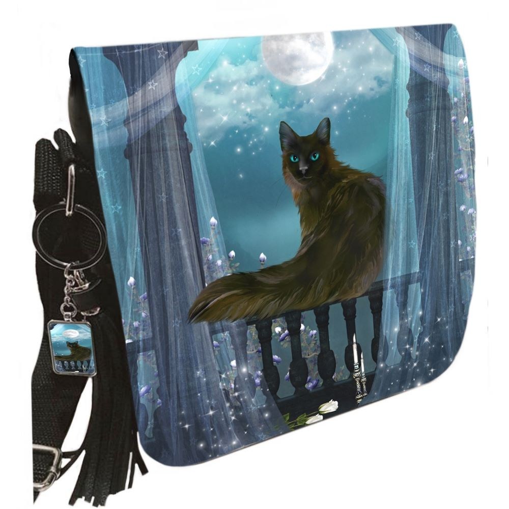Small Shoulder Cat Bag With Tassel Ring - Eclipse