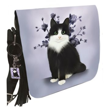 Small Shoulder Cat Bag With Tassel Ring - Lilac