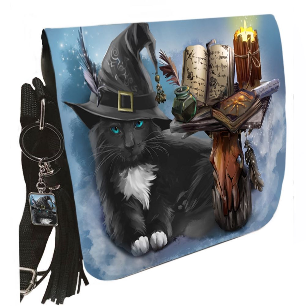 Small Shoulder Cat Bag With Tassel Ring - The Magician