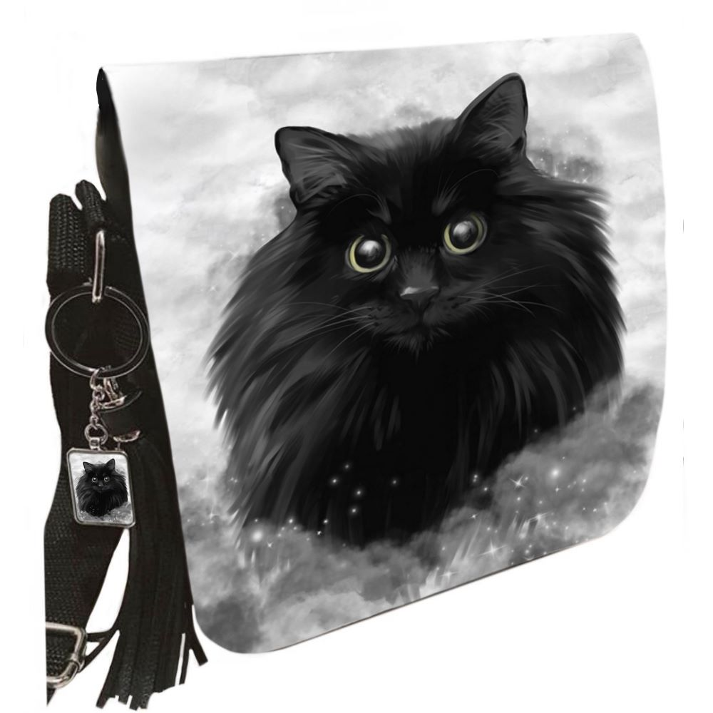 Small Shoulder Cat Bag With Tassel Ring - Storm