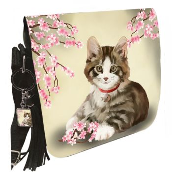 Small Shoulder Cat Bag With Tassel Ring - Jess