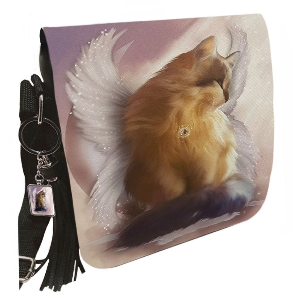 Small Shoulder Cat Bag With Tassel Ring - Castiel