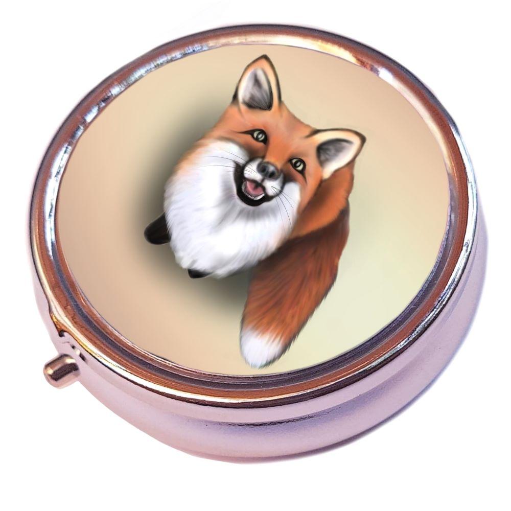 Silver Pill Box -  Little Fox